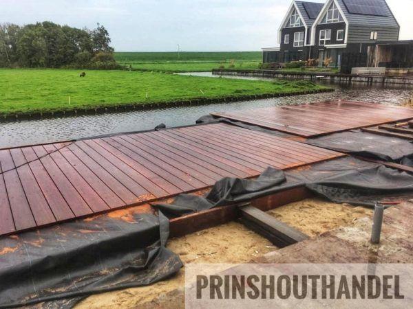 Vlonderplank 32x195mm hardhout Prins Houthandel Purmerend