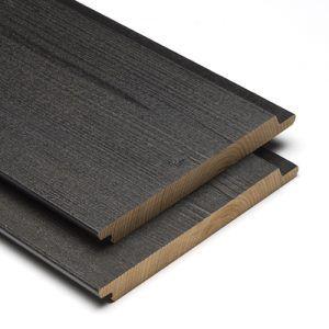 Modiwood Gemodificeerd hout fins rabat halfhouts zwart Prins Houthandel Purmerend